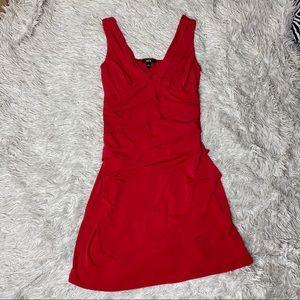 NEW Red Ruffle Fit & Flare Mini Dress!